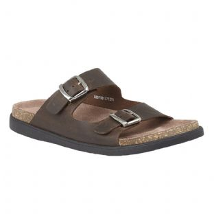 Lotus Benson Mens Brown Leather Mule Sandals